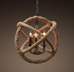 seil 3 licht kronleuchter rustikal nautische aufhängevorrichtung Kugel wickeln Western anhänger in  von  auf Aliexpress.com