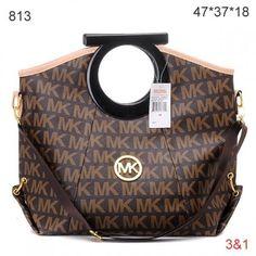 Fashion Style,Michael Kors Skorpios,Michael Kors Monogrammed Ring Handbag Brown Sale-148