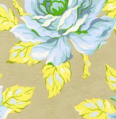Heather Bailey Fabric - Nicey Jane - Hello Roses - Dove