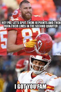 Kansas City Nfl, Kansas City Chiefs Football, Best Football Team, Nfl Football, Football Players, Funny Football Videos, Football Jokes, Basketball Funny, Chiefs Memes
