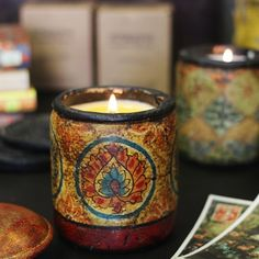 * Printed Terracotta Soy Candle - Tobacco Bark : The Smells Good Store