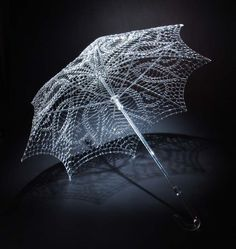 Delicately Crafted Glass Sculptures (umbrella)