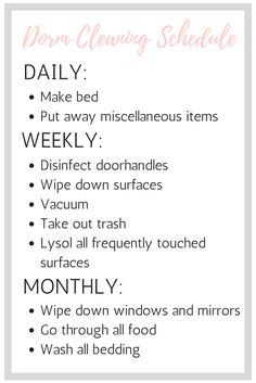 The Ultimate Guide To Cleaning Your Dorm Room ( Free Printable!)