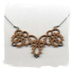 Tatting in Taupe. $42.00, via Etsy.