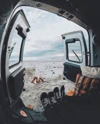 Image result for how to live the van life Bus Living, Camper Van, Van Life, Caravan, Airplane View, Camping, Explore, Adventure, Tiny Houses