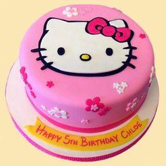 Hello Kity Hello Kitty Cake Design, Torta Hello Kitty, Hello Kitty Birthday Cake, Disney Cake Toppers, Sprinkle Party, Happy Birthday Sister, Girl Cakes, Birthday Party Decorations, Cake Designs