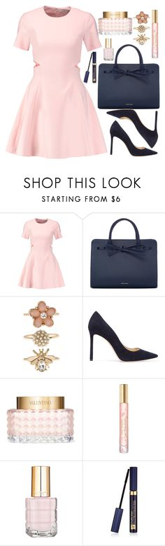 """Pink & Blue"" by wolfiexo ❤ liked on Polyvore featuring Elizabeth and James, Mansur Gavriel, Accessorize, Jimmy Choo, Valentino, Tory Burch, L'Oréal Paris and Estée Lauder"