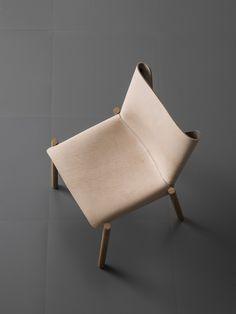 Silla de piel curtida 1085 EDITION by Kristalia | diseño Bartoli Design