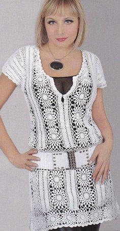 Túnica - vestido de crochet