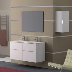 Ambiance sobre et naturelle avec ce meuble de salle de bain GALSAKY COYCAMA.  Par Samse sur https://www.samse.fr/