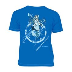 From the hugely popular series IS  comes this cool royal blue tee of Cecilia Alcott. A collaboration between author Izuru Yumizuru, brand Overlap, and Project IS, this tee embodies the vivacious nature of Cecilia. The front features the name of her personal IS, Blue Tears, and the back features an illustration of her in an innocent pose. If you are a fan of IS, don't miss out on adding this tee to...