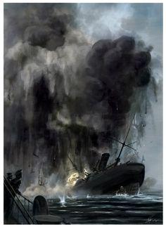 Acorazado Petropavlovsk, líder de una clase de tres, comisionado en 1899, 11.850 t, 16 nudos, armado con cuatro piezas de 305 mm y doce de 152, cinturón acorazado de hasta 305 mm. Destinado a la flota del Pacífico en 1900 participa en la represión de la revuelta bóxer, y la guerra ruso-japonesa le encuentra en su base de Port Arthur, donde durante el sorpresivo ataque nipón en Febrero de 1904 resulta alcanzado por dos proyectiles de 305 mm, que causan daños menores, un muerto y cuatro…