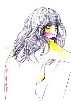 Kai Fine Art is an art website, shows painting and illustration works all over the world. Woman Illustration, Graphic Design Illustration, Life Drawing, Figure Drawing, Figure Painting, Girl Sketch, Pretty Art, Painting Inspiration, Art Drawings