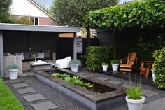 binnenkijken bij silentpetra Outdoor Seating, Outdoor Decor, Backyard Projects, Garden Inspiration, Garden Ideas, Go Outside, Garden Planning, Water Features, Future House