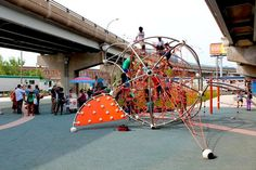 Landscape Architecture, Landscape Design, Parasitic Architecture, Under Bridge, Park Playground, Animation, Parks, Design Strategy, Skate Park