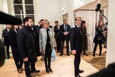 Emmanuel Macron, président de la République française, sa femme la Première Dame Brigitte Macron (Tr