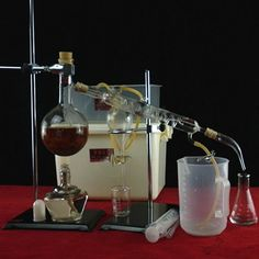 500ml Glass Distillation Apparatus,Laboratory Chemistry Glassware Kit XD #UNBrand