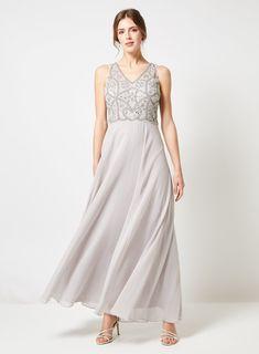 5434bbfe6e6a8 Showcase Grey 'Elle' Embellished Maxi Dress
