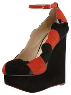 Charlotte Olympia Lady Luck Black/red Wedges. Get the must-have wedges of this season! These Charlotte Olympia Lady Luck Black/red Wedges are a top 10 member favorite on Tradesy. Save on yours before they're sold out!