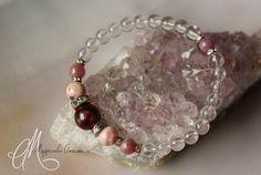 Tourmaline, Argentina rhodochrosite, ruby & clear quartz