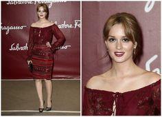 秋を漂わせる衣装でsalvatore Ferragamoのイベントに出席のレイトン・ミースター|セリーナに恋して ~Gossip Girl~