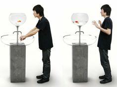 lavabo déco avec aquarium par Yanlu