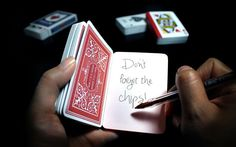 Playing Card Notebook by Suck UK , via Behance