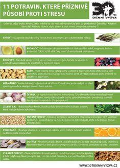 11 potravin, které příznivě pusobí proti stresu - 30ti denní výzva Detox, Low Carb, Fitness, Health, Alcohol, Health Care, Salud