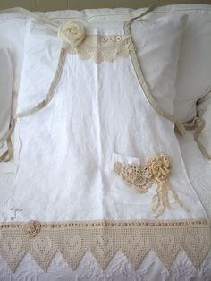 apron I made for Tiffany (shabby scraps) | made from an old … | Flickr