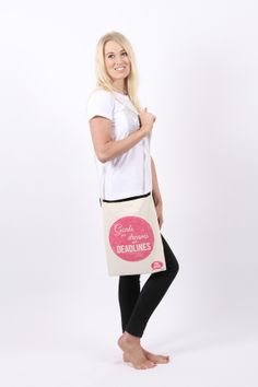 Tote bag stating 'Goals are dreams with deadlines' Now Only £7.99 BUY NOW