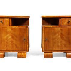 Art Deco bedside cabinets Scandinavian c1930 - Decorative Collective