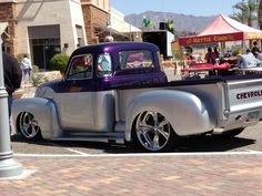 Nice chevy two toned truck!