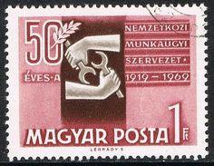 [CF7455] Hungría 1969, L Aniv. Organización Mundial del Trabajo (CTO) Stamps, Cover, Books, Ebay, Seals, Libros, Book, Postage Stamps, Book Illustrations