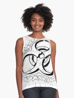 "Kaufe ""Cartoon Drawing of Biohazard Symbol"" von Zdenek Sasek auf folgenden Produkten: T-Shirt, Classic T-Shirt, Vintage T-Shirt, Leichter Hoodie, Tailliertes Rundhals-Shirt, Shirt mit V-Ausschnitt, Baggyfit T-Shirt, Grafik T-Shirt, Chiffon... Geometric Wolf, Vintage T-shirts, Chiffon Tops, Wolf Black, Tank Tops, Moon, Symbols, Drawing, Printed"