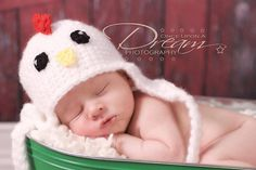 Lil Rooster Hat Photography Prop for Newborns by ALilLoopy on Etsy, $23.00