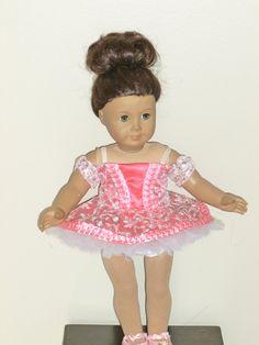 BloomDance Costume for an 18 inch doll by DancinDollsDesigns, $15.00
