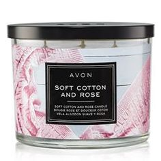 Soft Cotton and Rose Candle. Spend a day snuggled up with the soft and romantic notes of the Soft Cotton and Rose Candle, part of the Home Fragrance Collection. 3 Wick Candles, Scented Candles, Fall Candles, Romantic Notes, Cotton Blossom, Rose Candle, Home Fragrances, Burning Candle, Glass Jars