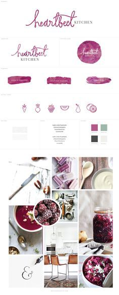 Heartbeet Kitchen Blog Branding, Food Blog Design #blogdesign inspiration