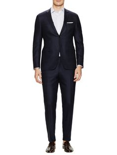 Birdseye Wool Suit from Canali Suiting on Gilt
