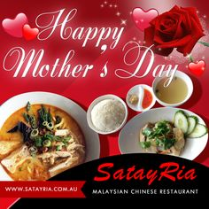 Treat Your Mom to a Nice Lunch or Dinner This Mother's Day. Happy Mother's Day everyone!  #mothersday #mothersday2015 #momday #satayria