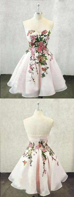 Tulle Light Pink Short Homecoming Dress, Handmade Flower Prom Dress - - Tulle Light Pink Short Homecoming Dress, Handmade Flower Source by Short Graduation Dresses, Cheap Homecoming Dresses, Prom Party Dresses, Evening Dresses, Dress Party, Wedding Dresses, 8 Grade Graduation Dress, Occasion Dresses, Party Gowns