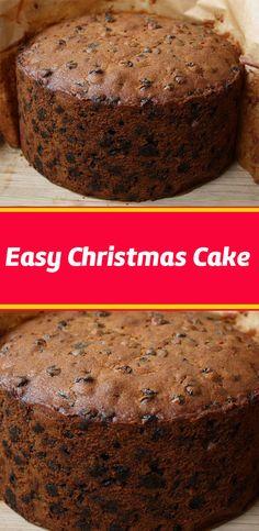 Easy Christmas Cake – What To Cook For Dinner Christmas Sweets, Christmas Baking, Christmas Cakes, Christmas Bounty, Holiday Baking, Christmas Holiday, Xmas, Crack Cake, Cake Recipes