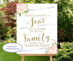 16x20 Choose a Seat Not a Side INSTANT by SimplyFetchingPaper