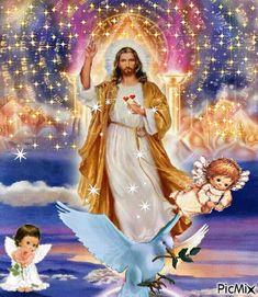 Sacred Heart of Jesus Pictures Of Jesus Christ, Religious Pictures, Names Of Jesus, Heart Of Jesus, God Jesus, Image Jesus, Jesus Photo, Christian Images, Divine Mercy
