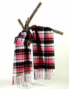 Softer than cashmere 12 by 60 warm winter Plaid scarves for Men and Women