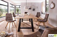 Stół dębowy NANGA 180 cm, 200 cm lub 220 cm - sklep meblowy Dining Table, Furniture, Home Decor, Decoration Home, Room Decor, Dinner Table, Home Furnishings, Dining Room Table, Home Interior Design