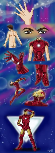 What if Iron Man transformed like Sailor Moon? (by ~Spader7 on deviantART)