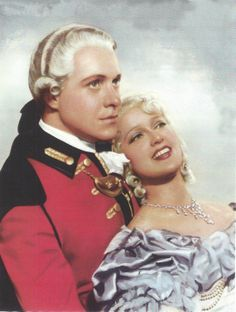 Color portrait of Jeanette MacDonald and Nelson Eddy for Naughty Marietta - ESCANO COLLECTION