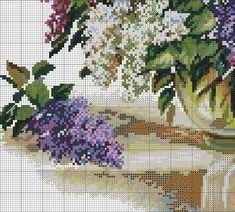× Вышивание ♥ крестиком × Cross Stitching, Cross Stitch Embroidery, Cross Stitch Patterns, Cross Stitch Flowers, Flower Basket, Crafty Craft, Needlepoint, Needlework, Photo Wall