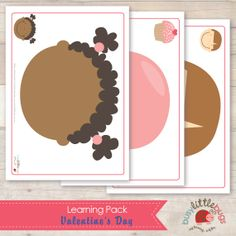 Busy Little Bugs Valentines Day Learning Pack Playdough mats